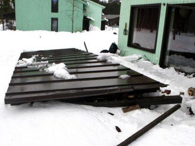Lume- ja jääpurikate koristus katuselt, lumekoristus katuselt